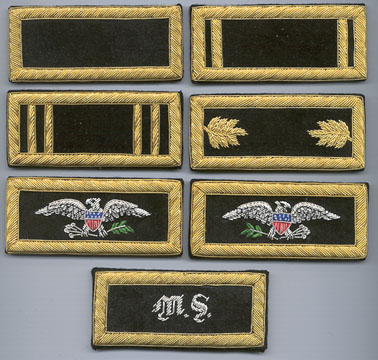 American Civil War Union Cavalry 1st Lieutenant Insignia Shoulder Boards New