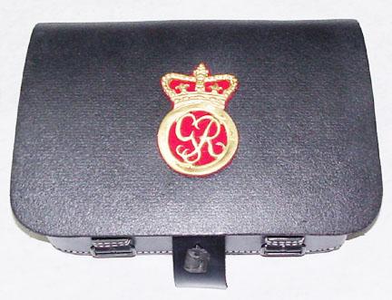 C & D Jarnagin Company Rev War Leather Gear, Cartridge boxes
